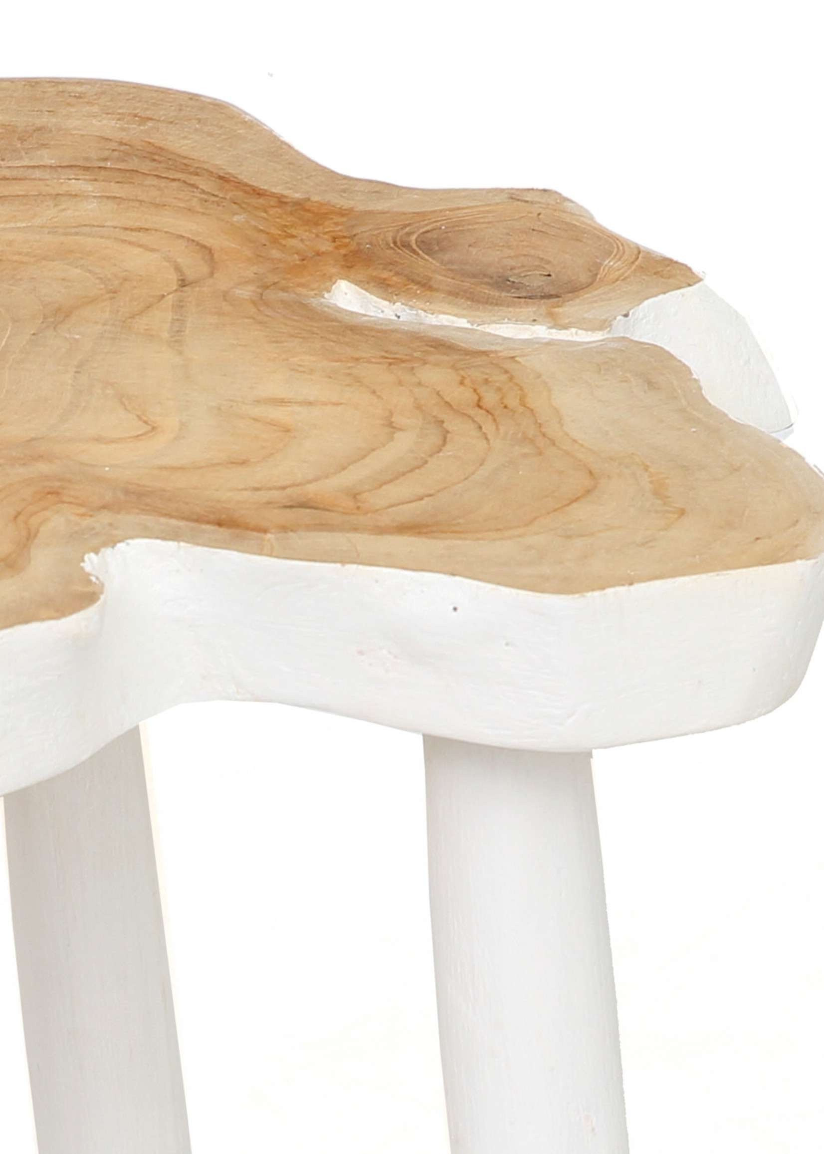 The Organic Side Table - Natural White