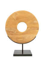 The Teak Disc on Stand