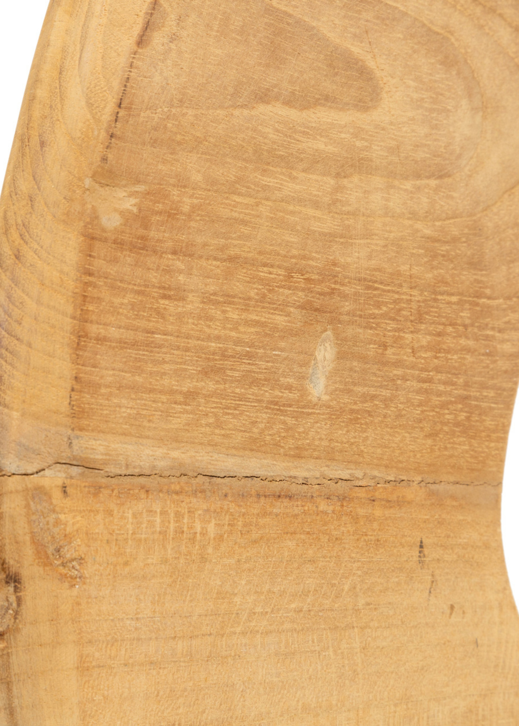 The Teak Disc on Stand - Natural - M