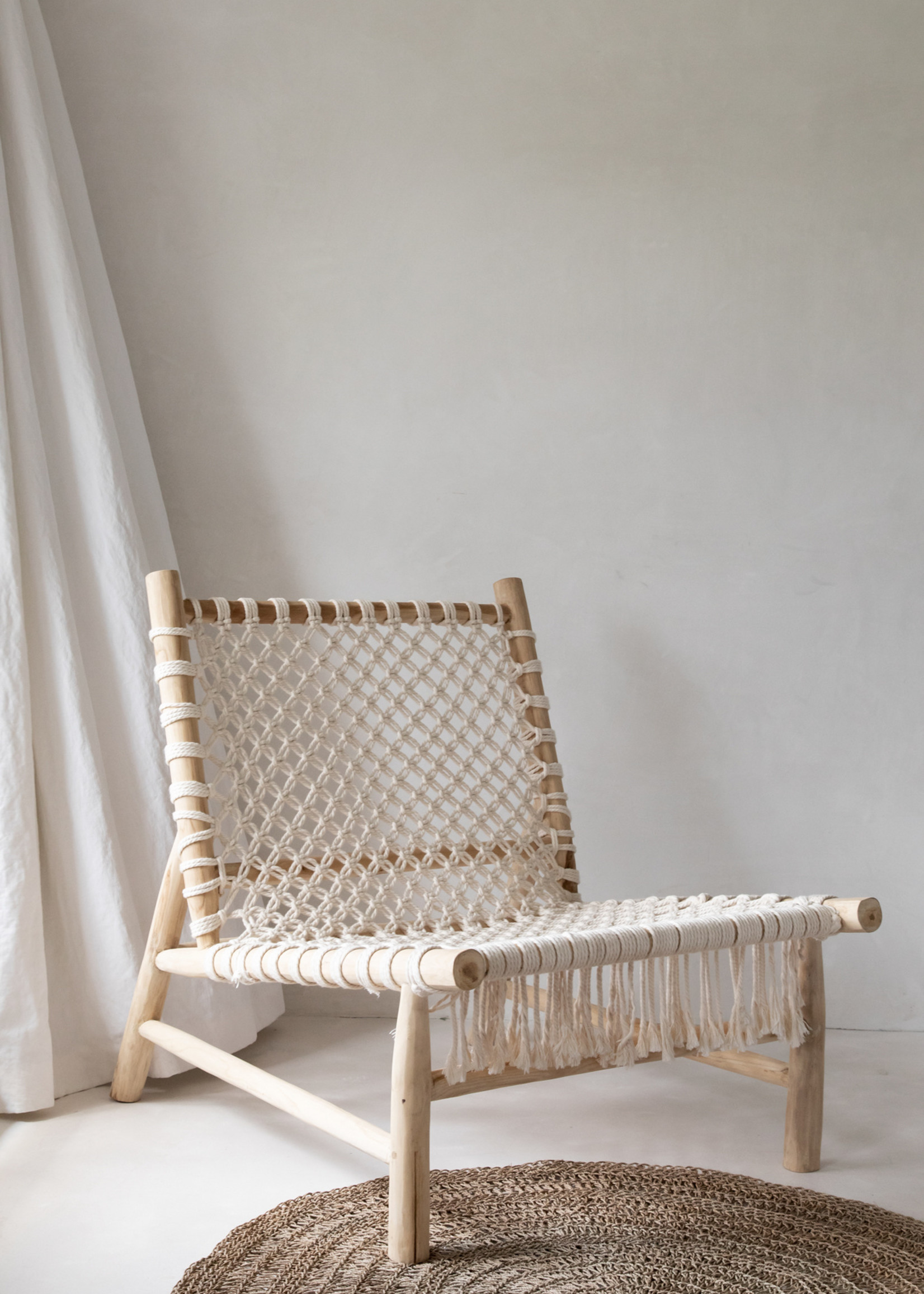 The Island Rope One Seater - Natural White