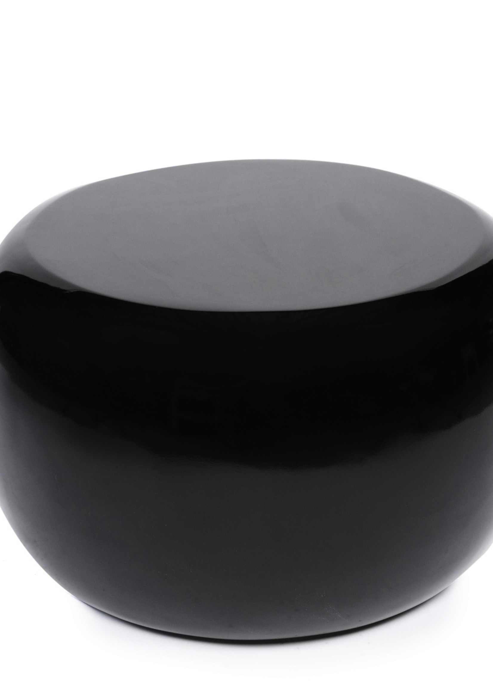 The High Gloss Side table - Black