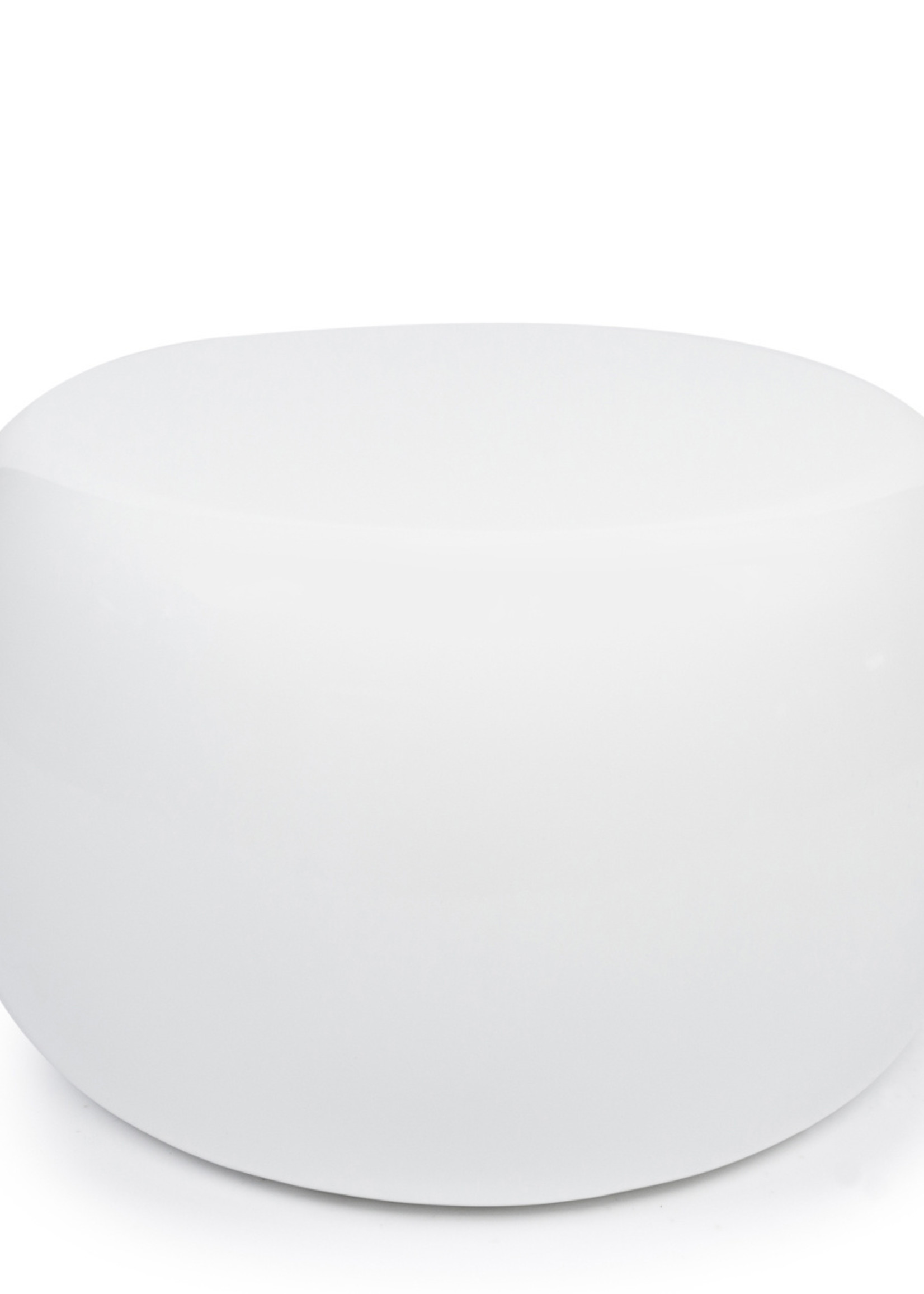 The High Gloss Side table - White