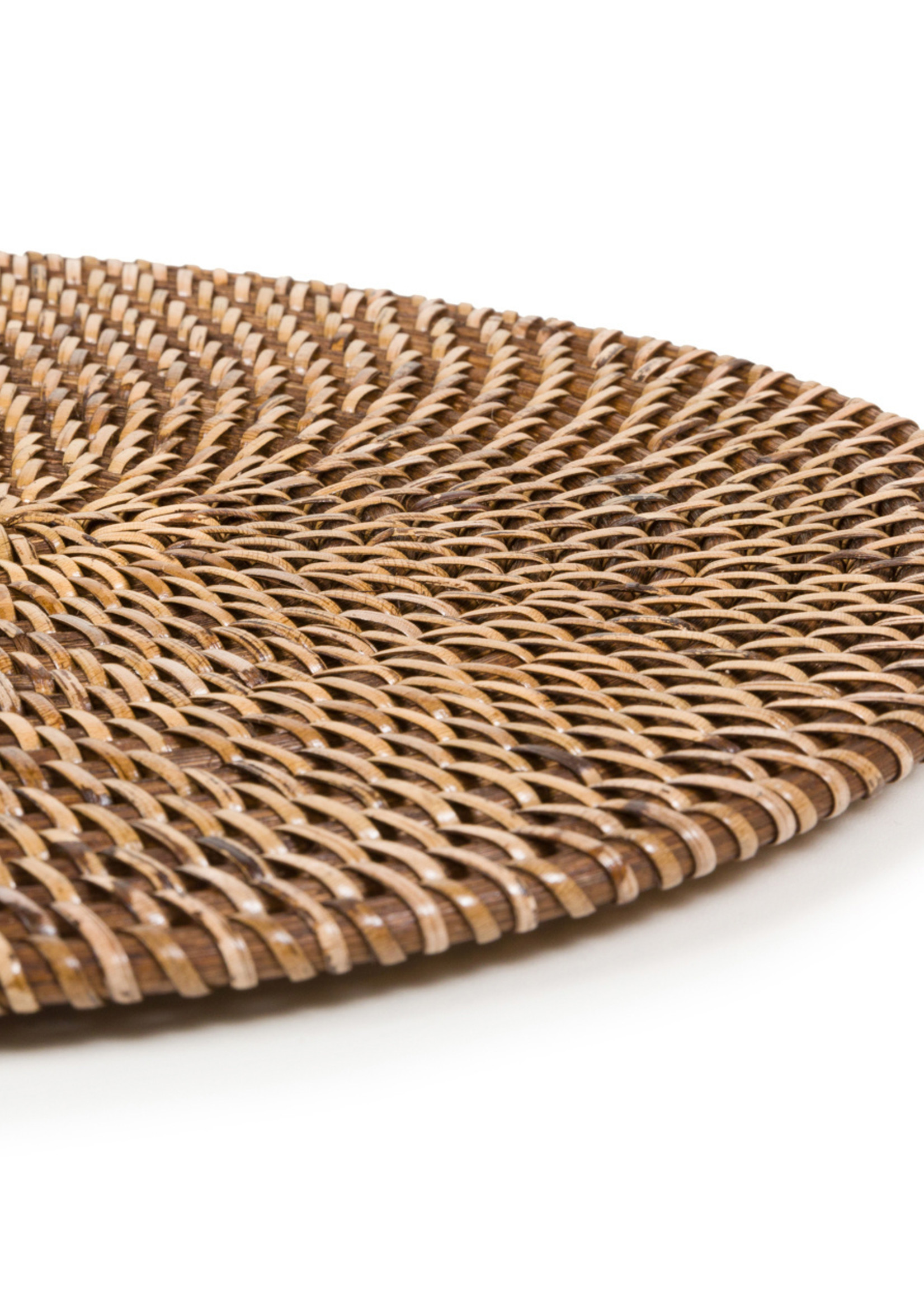 The Colonial Oval Placemat - Natural Brown