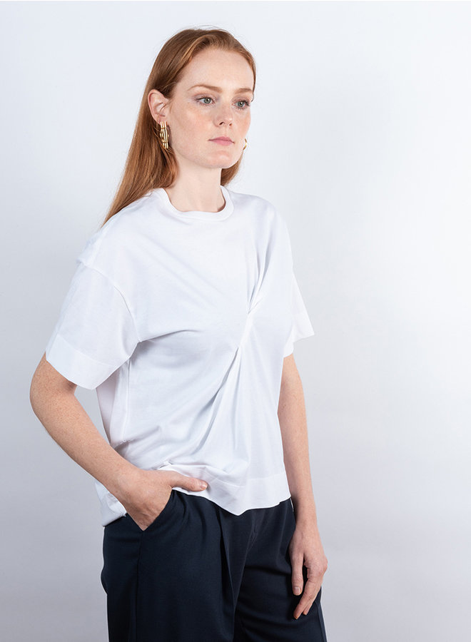 T-shirt basic cotton wit