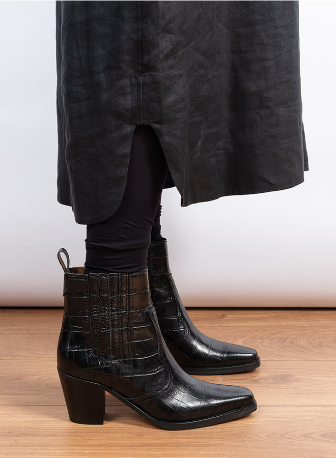 S1102 ankle boots zwart