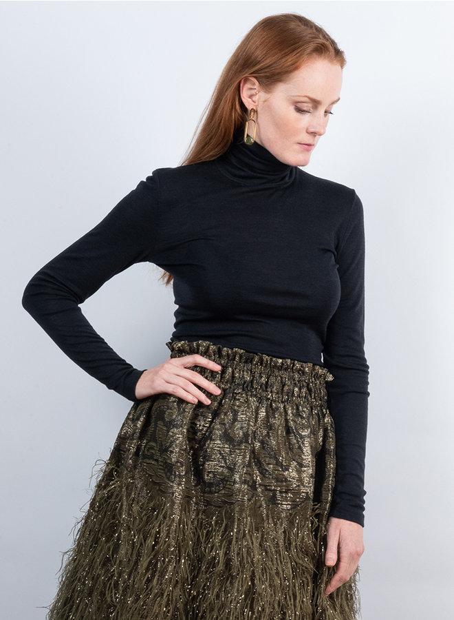 Koltrui wol zijden zwart