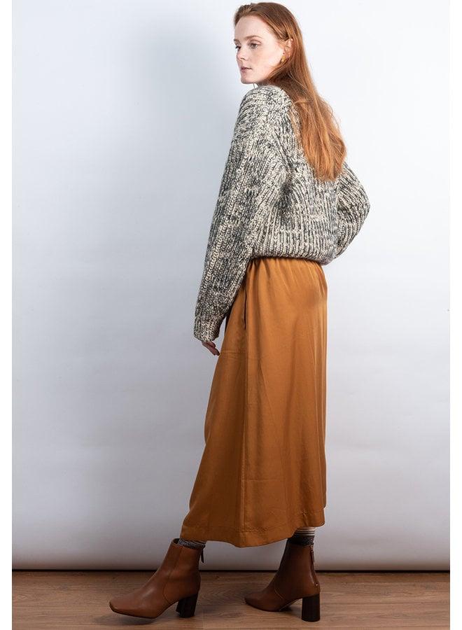Belted skirt oker
