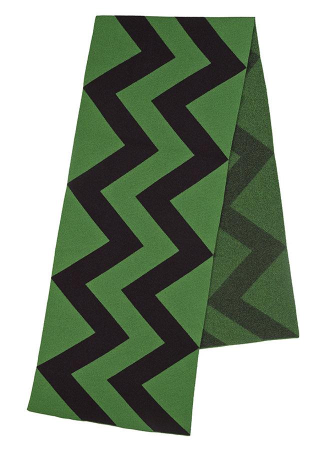 Vertical zigzag scarf groen