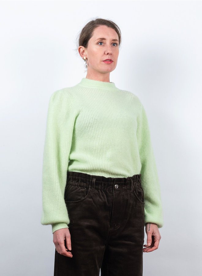 Soft wool trui fluor groen
