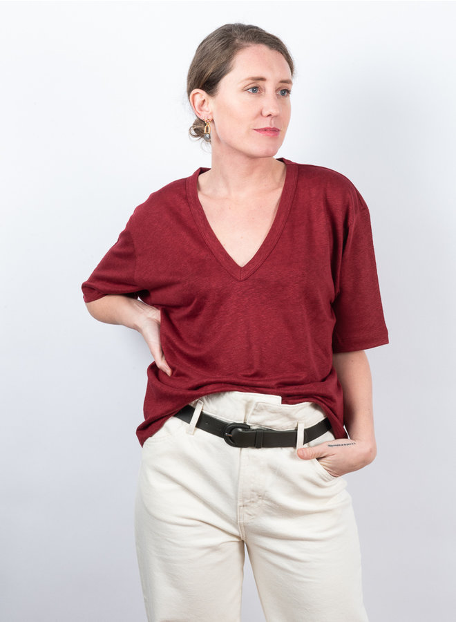 Jodi t-shirt  bordeauxrood