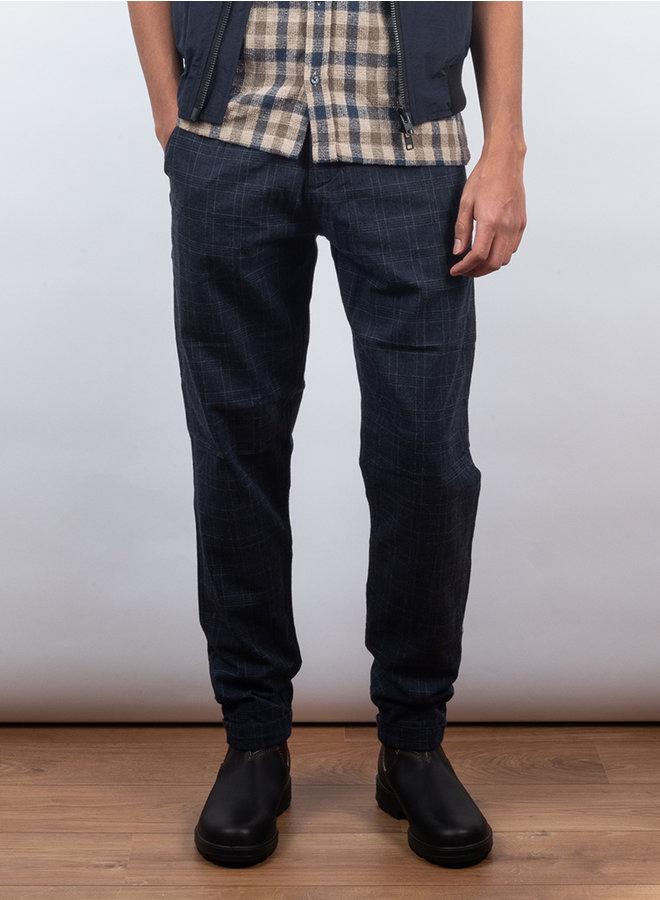 Raphael gate trousers blauw ruit