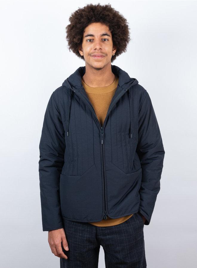 Junction wadded jas blauw