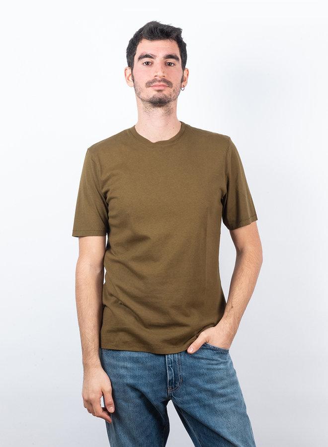 Contrast sleeve t-shirt tabacco