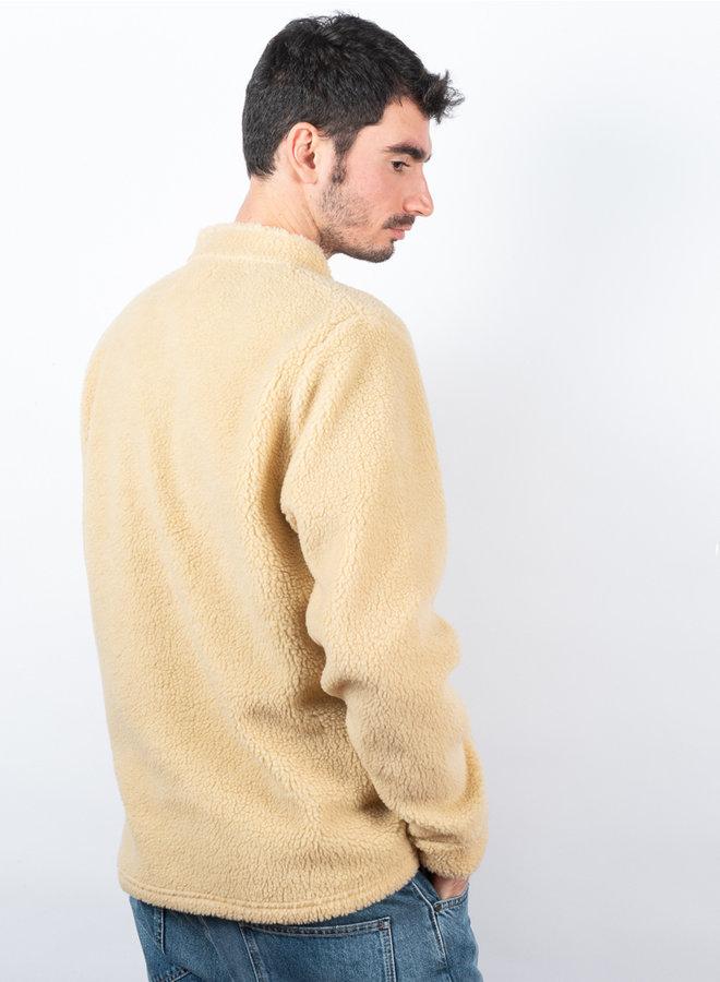 Fleece funnel trui off white