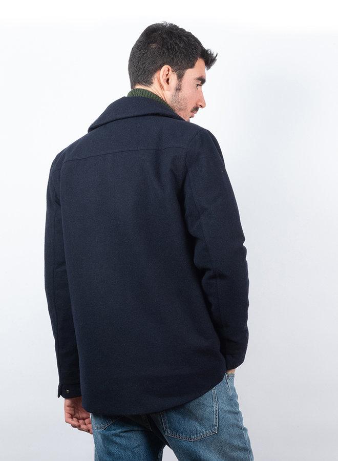 Shirt jacket techwool blauw