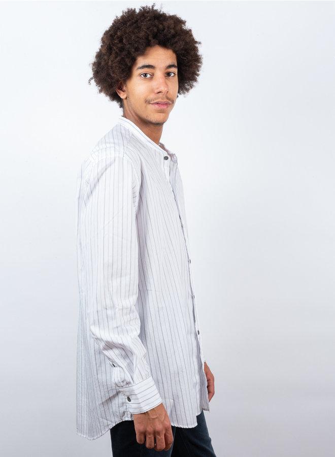 Tripoli shirt streep wit