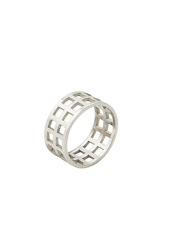 Jr9 ring zilver