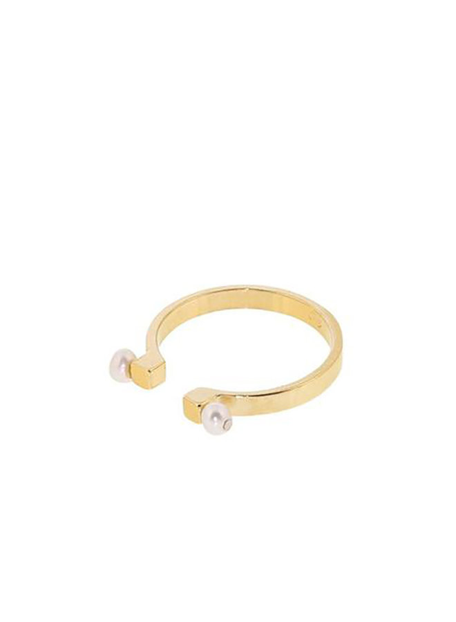 ECR3 ring parel gold plated