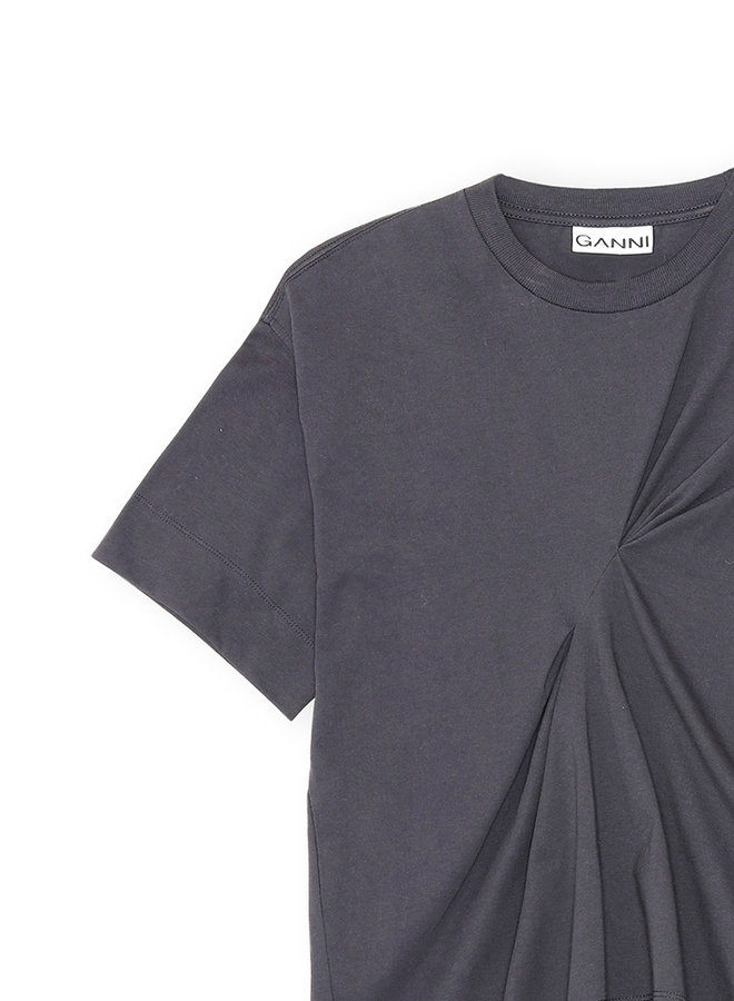 Stiched t-shirt zwart