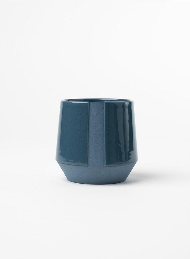 Filter koffie kop blauw