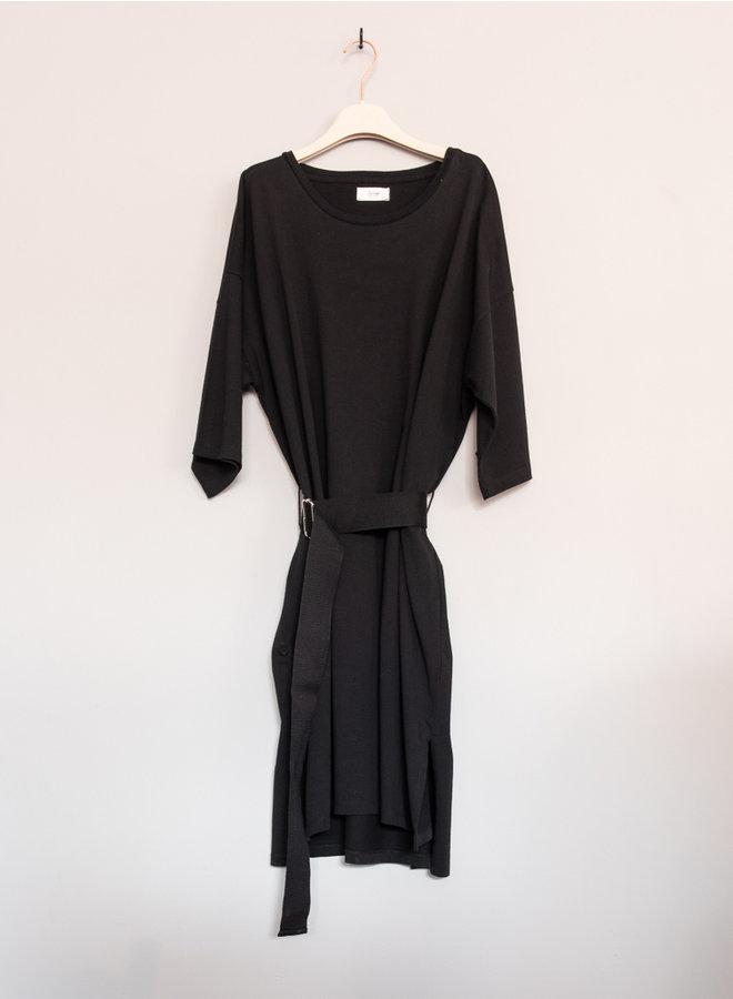 Basil jersey dress zwart