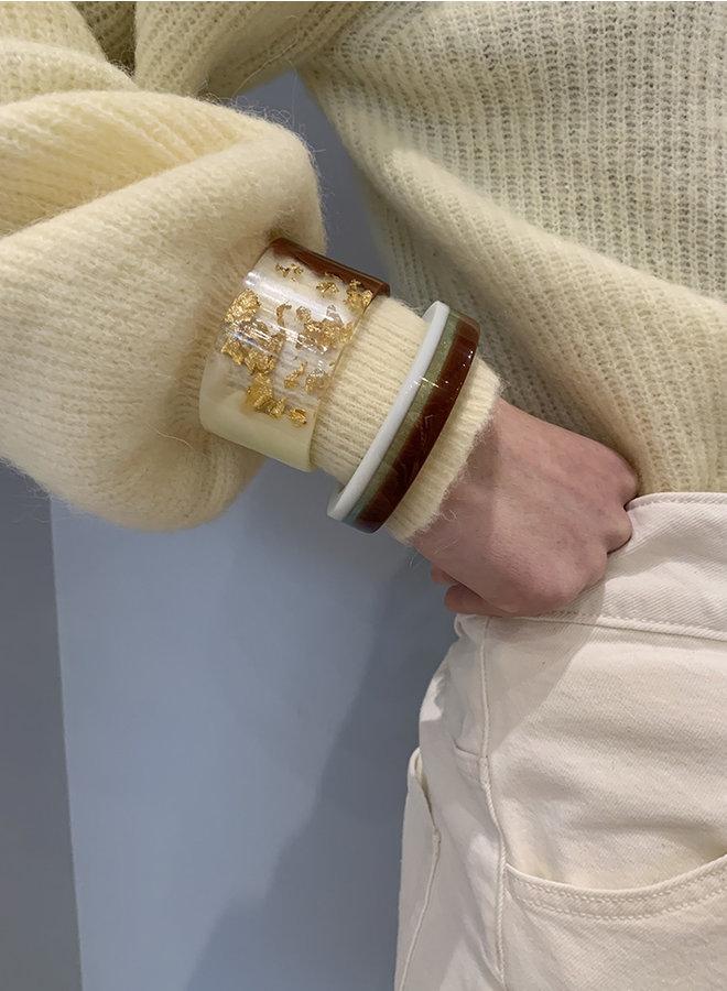 Bracelet A 02 pil bruin steep