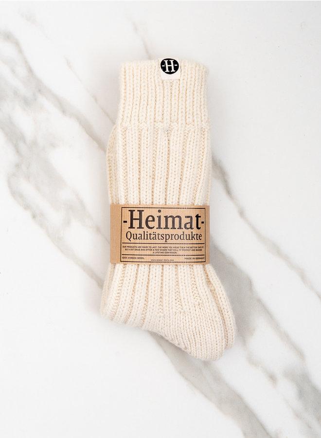 Wollen sokken wit