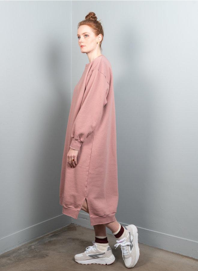 Dancy sweatdress roze