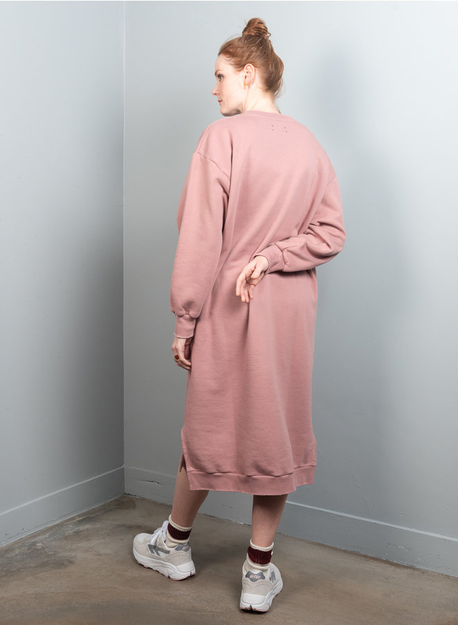 Dancy sweatdress roze
