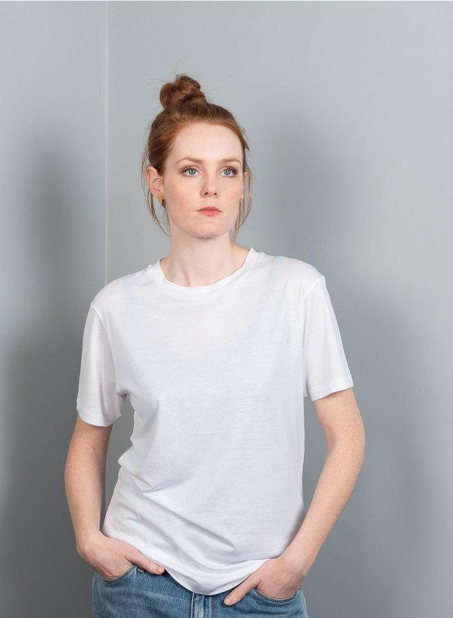 Julia crew t-shirt wit