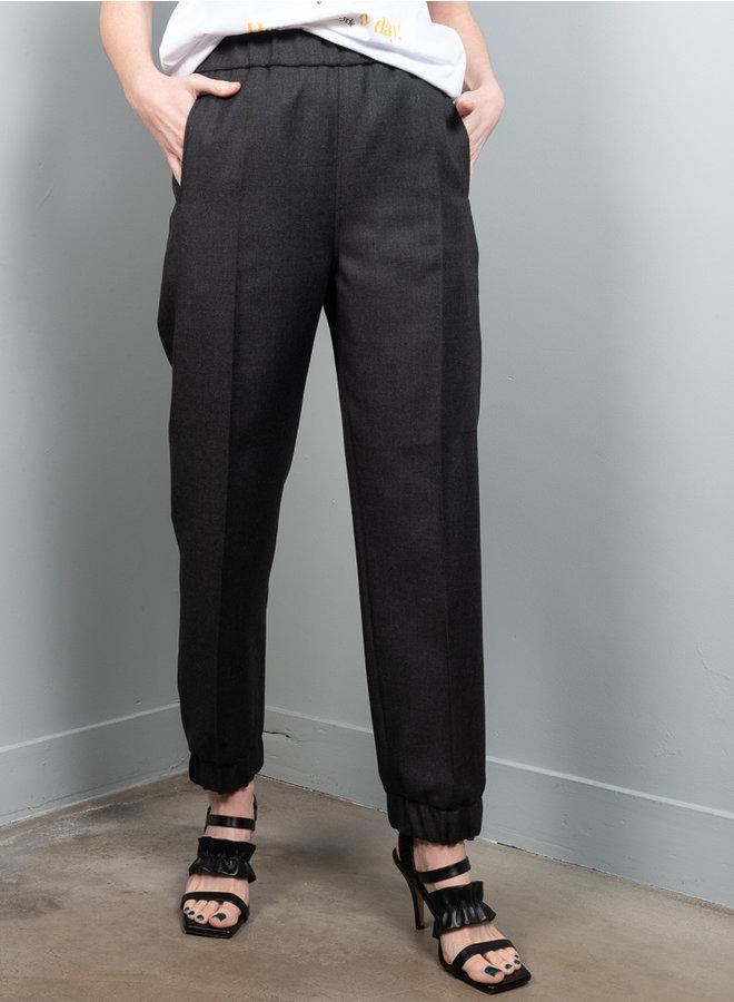 Wool suiting broek grijs