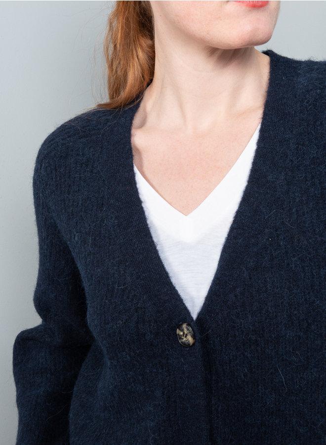 Soft wool vest  blauw K1498