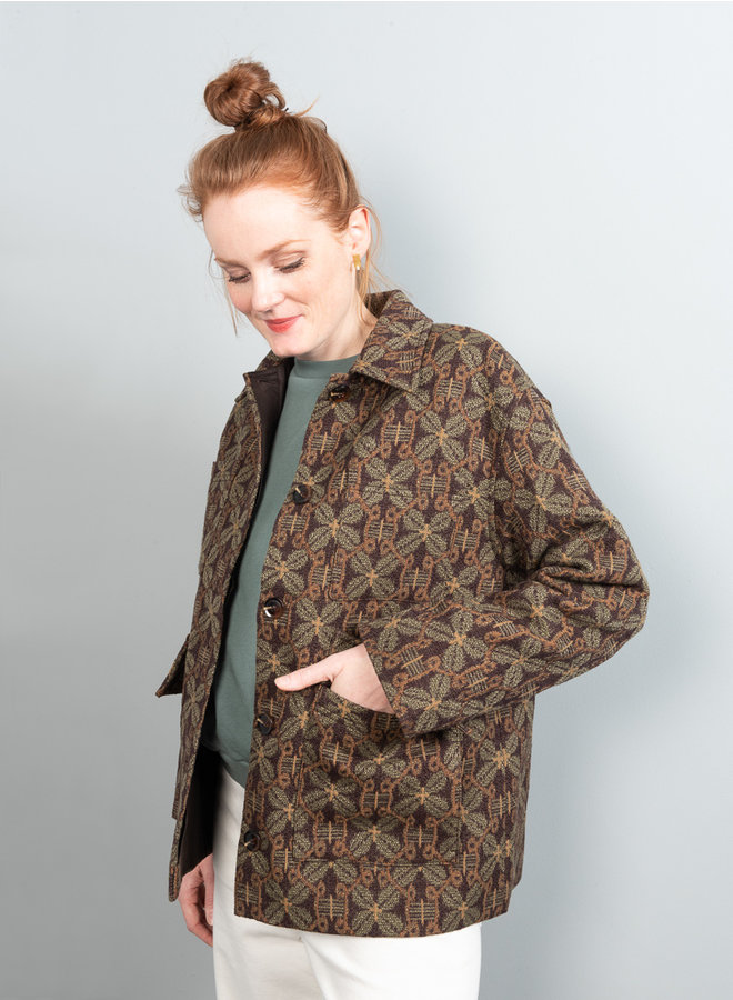 Kamari jacket bruin dessin