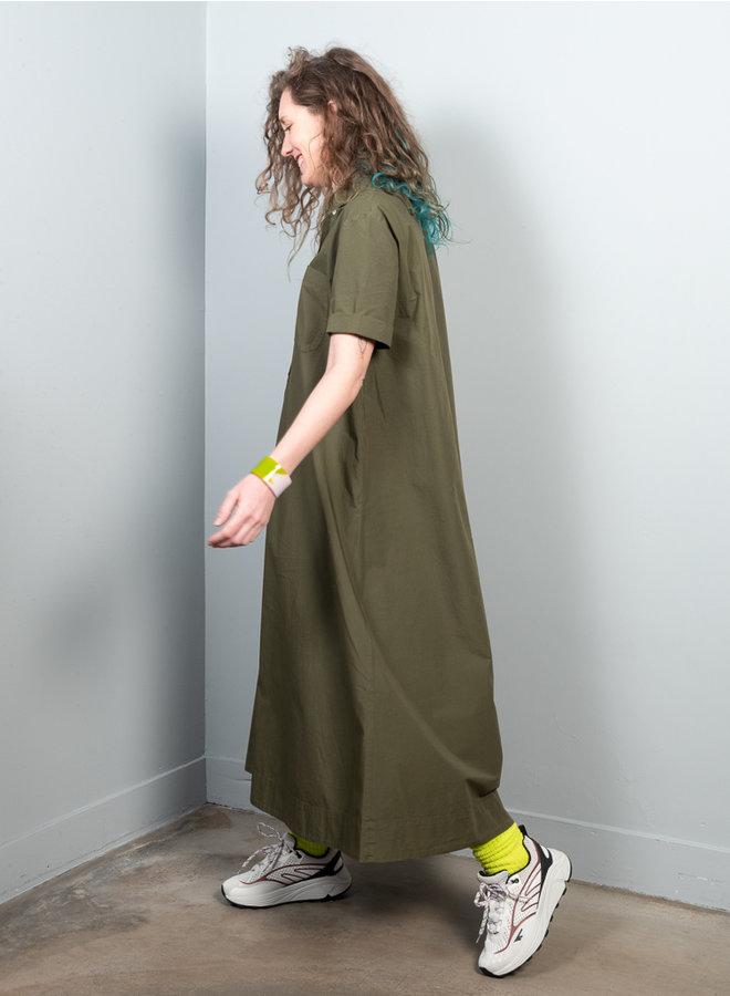 Valie jurk olijf