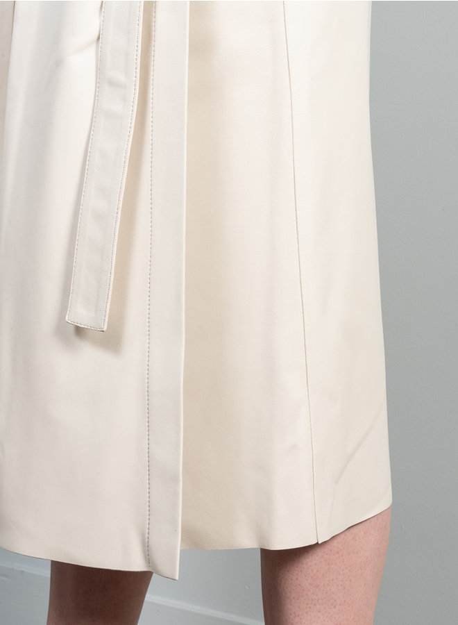 Dice skirt leather off white