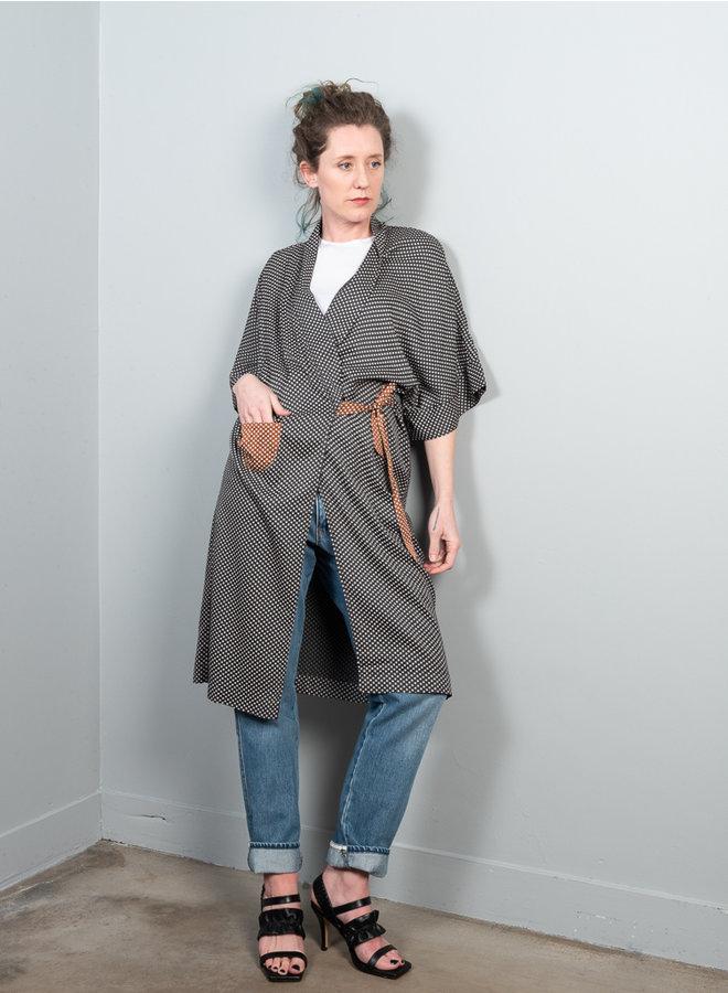 Arty overslag jurk stip