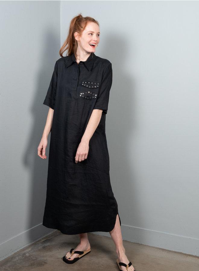 Shirt jurk F4735 zwart