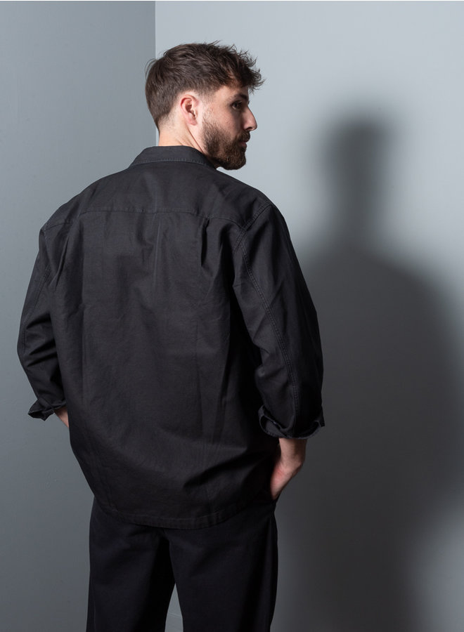 Base overshirt zwart
