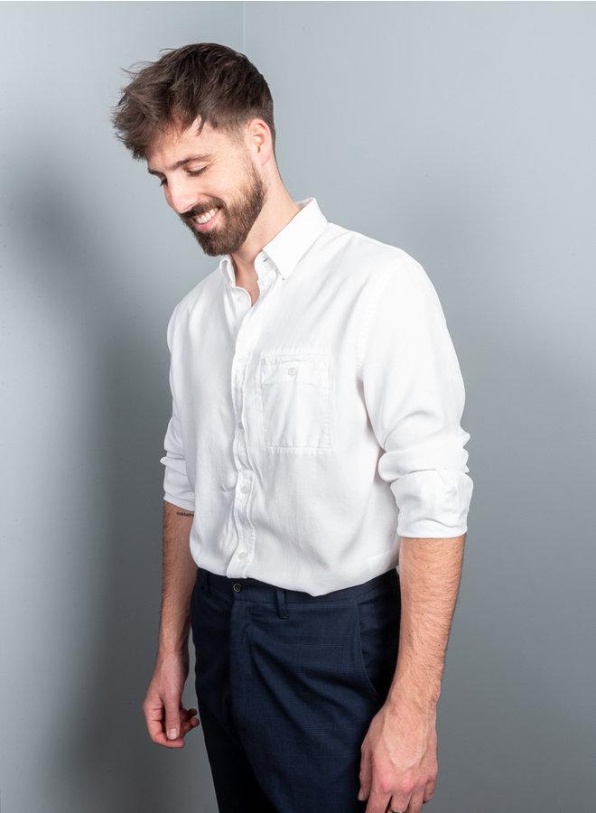 Zachary tencel shirt wit
