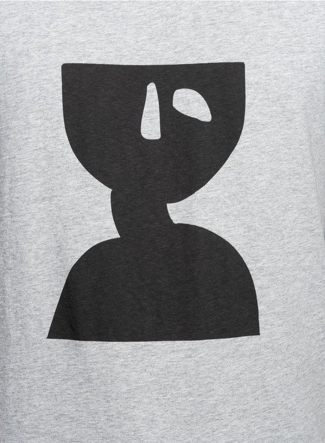 Line t-shirt grijs print
