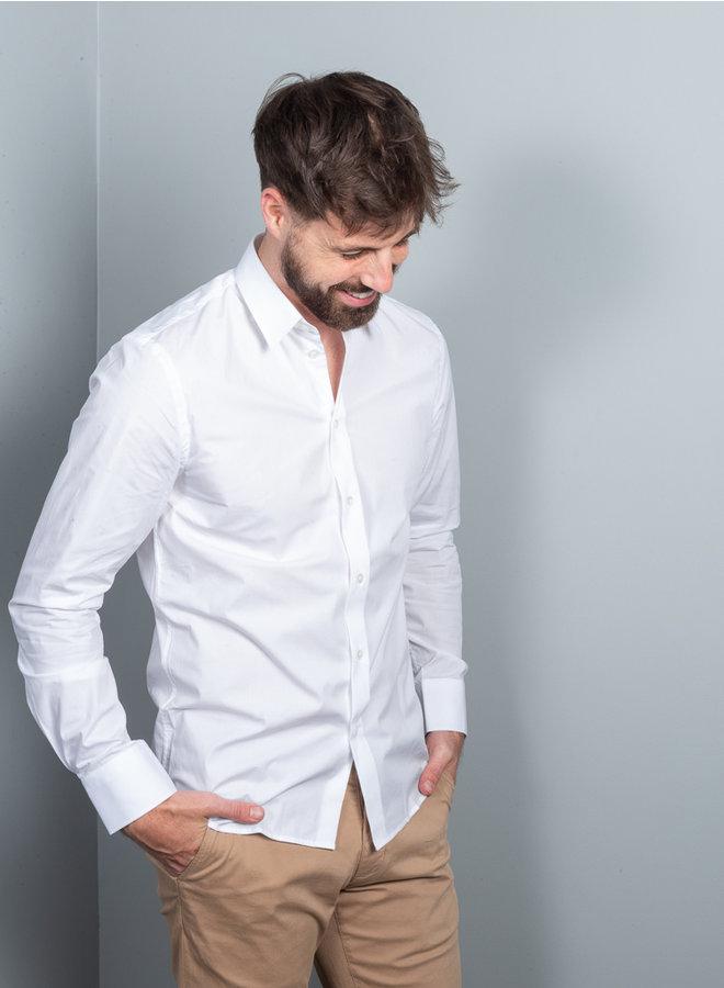 M. Paul stretch overhemd wit