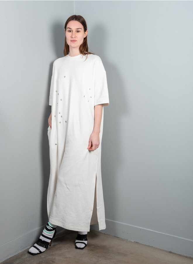 Peak jurk wit