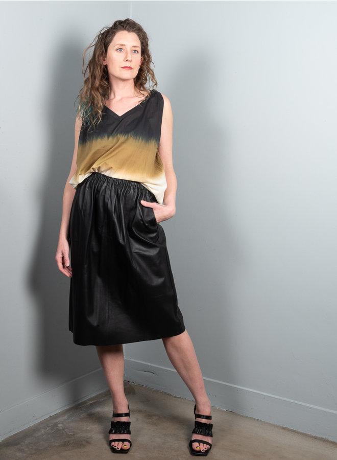 Major leather skirt zwart