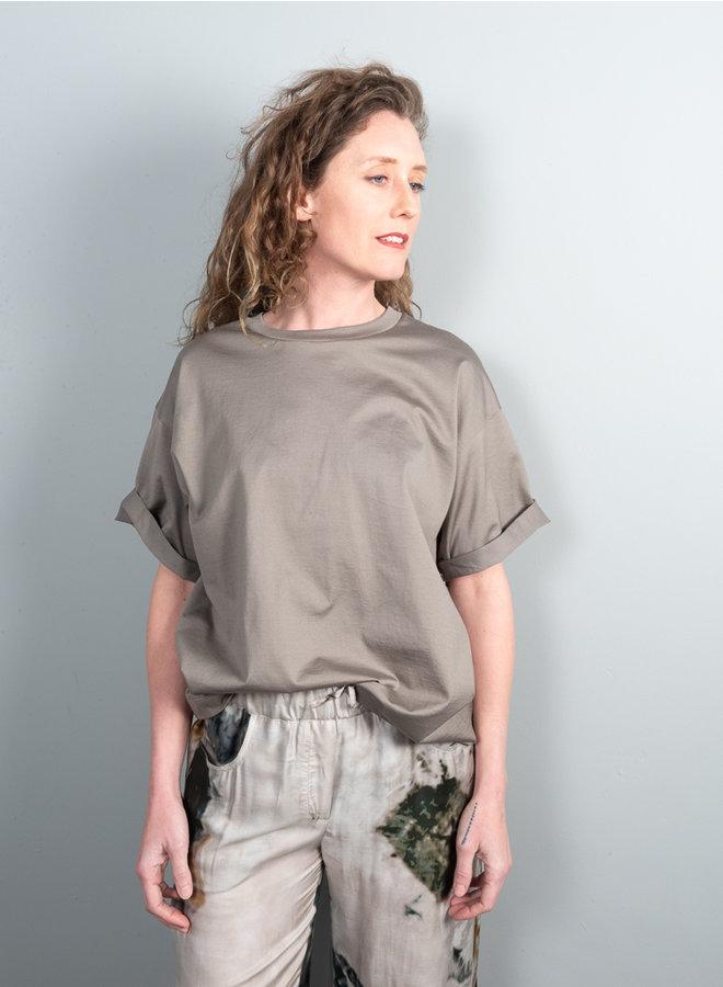 Line t-shirt grijs uni
