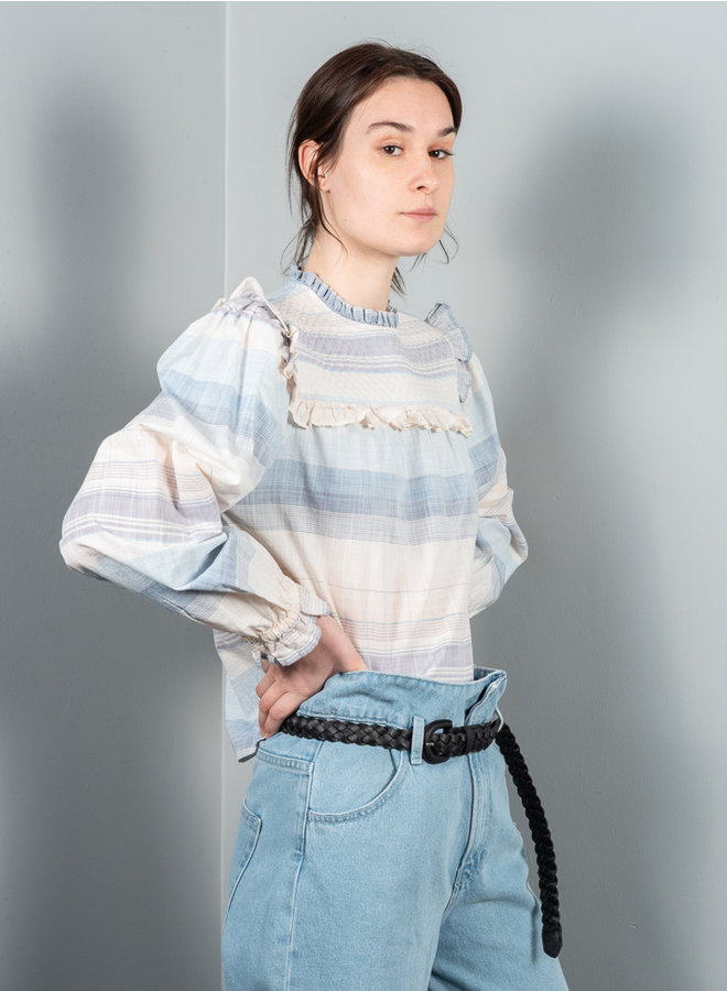 Edes blouse blauw streep