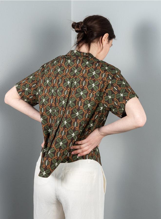 Mina blouse bruin print