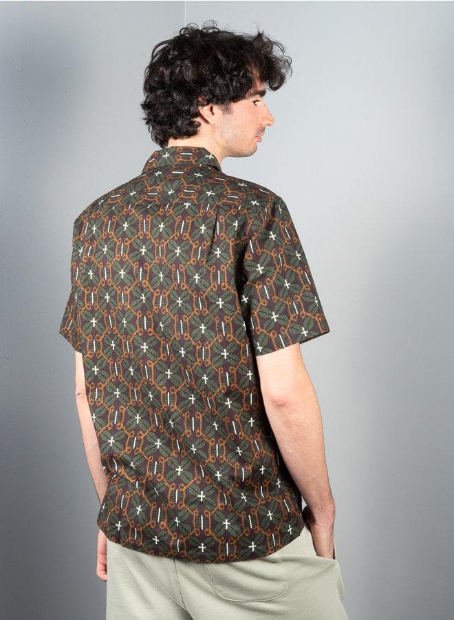 Avan JX shirt groen dessin