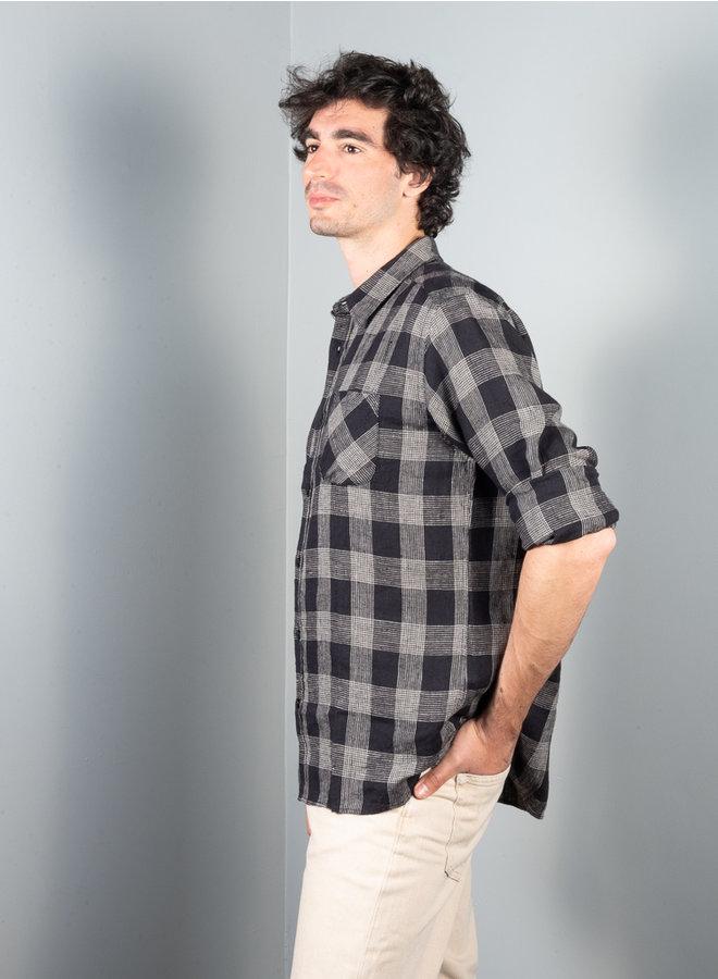 Headley shirt zwart ruit