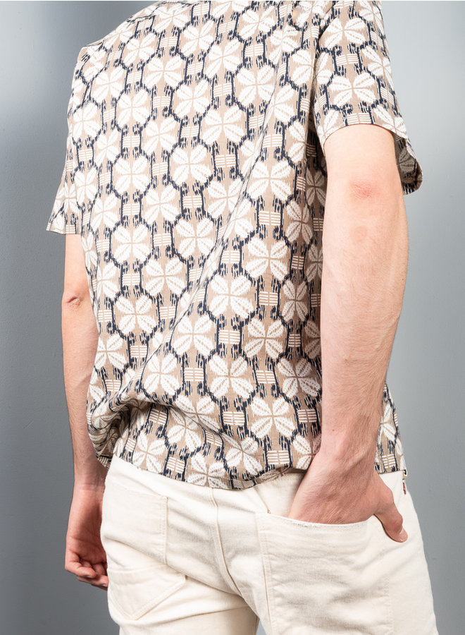 Avan JX shirt beige dessin