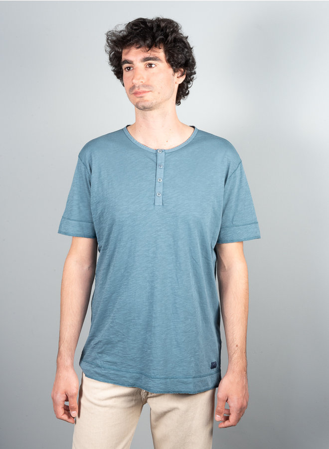 Gozo t-shirt grandad blauw